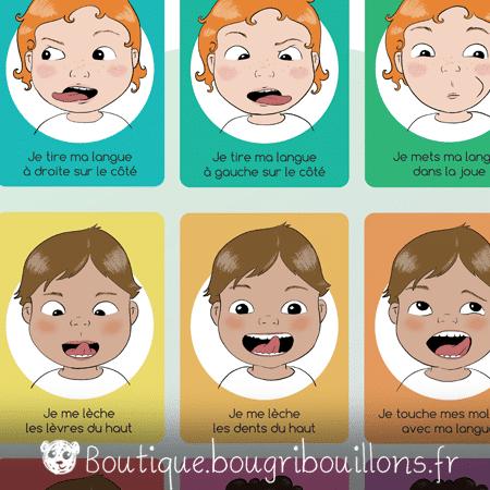 Affiche petite enfance sur la gym de la bouche - orthophoniste