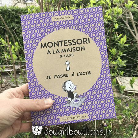 Couverture livre Montessori à la maison 0-3 ans