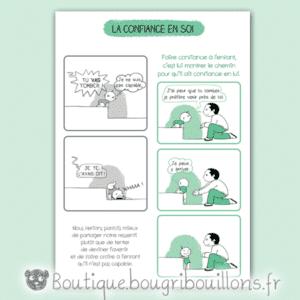 Affiche sur la confiance ne soi de l'enfant - Bébé