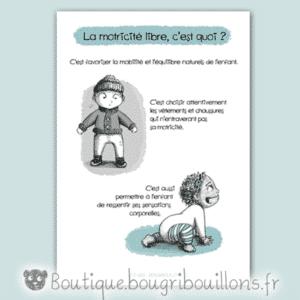 Affiche petite enfance, affiche motricité libre, Vêtements