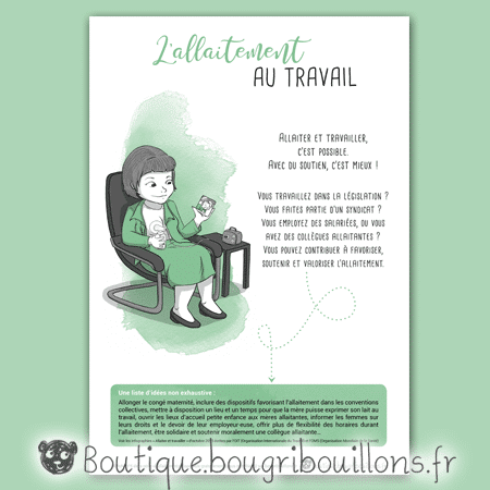 Affiche allaitement 6 - L'allaitement au travail - Bougribouillons