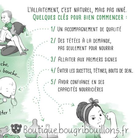 Extrait affiche allaitement 1 - L'allaitement ça s'apprend - Bougribouillons
