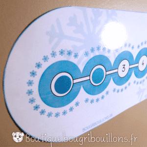 Photo 1 frise de l'avent Bougribouillons - Bleu glacial