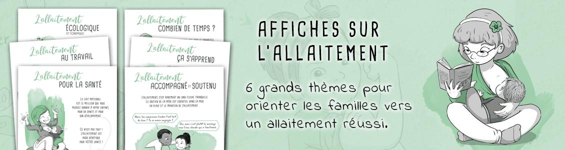 Six affiches sur l'allaitement