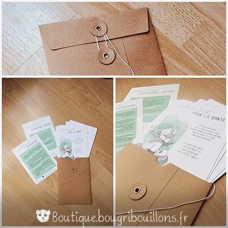 Photo 2 enveloppe fiches A5 sur l'allaitement - Bougribouillons