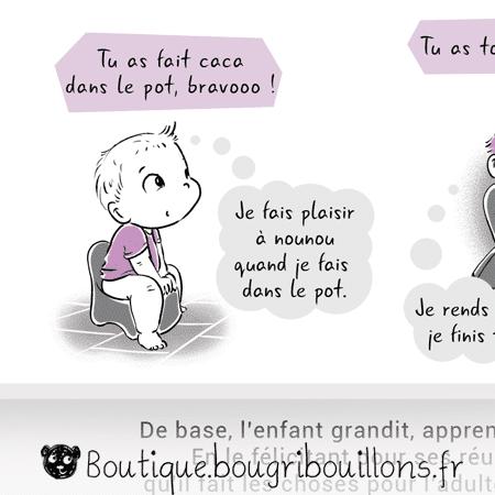 Bravo ou les compliments descriptifs et évalutatifs Extrait 1- Affiche Bougribouillons Petite enfance