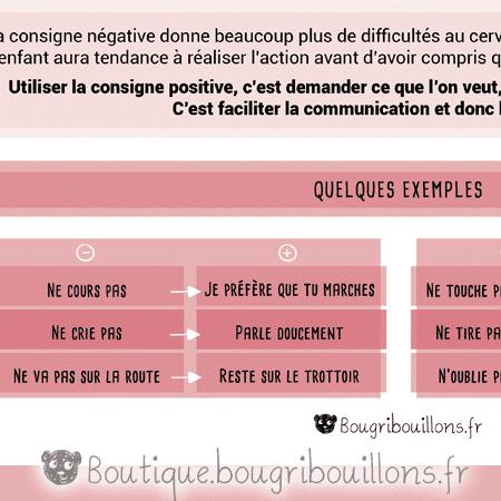 La consigne positive Extrait 2 - Affiche Bougribouillons Petite enfance