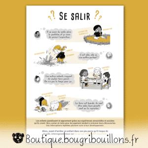Laisser les enfants se salir - Affiche Bougribouillons Petite enfance