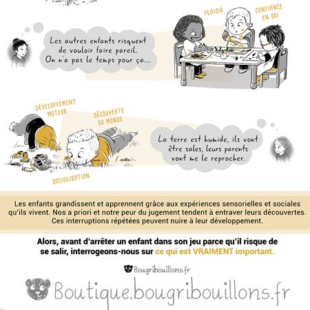 Laisser les enfants se salir Extrait 3 - Affiche Bougribouillons Petite enfance