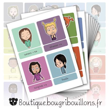 Planches cartes des émotions V2 - Bougribouillons