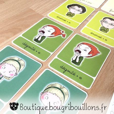 Cartes des émotions imprimées - Bougribouillons