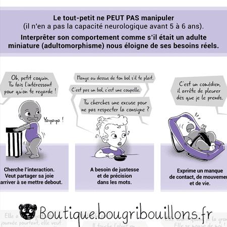 Changer de vision - L'adultomorphisme - Extrait 1 - Affiche Bougribouillons Petite enfance
